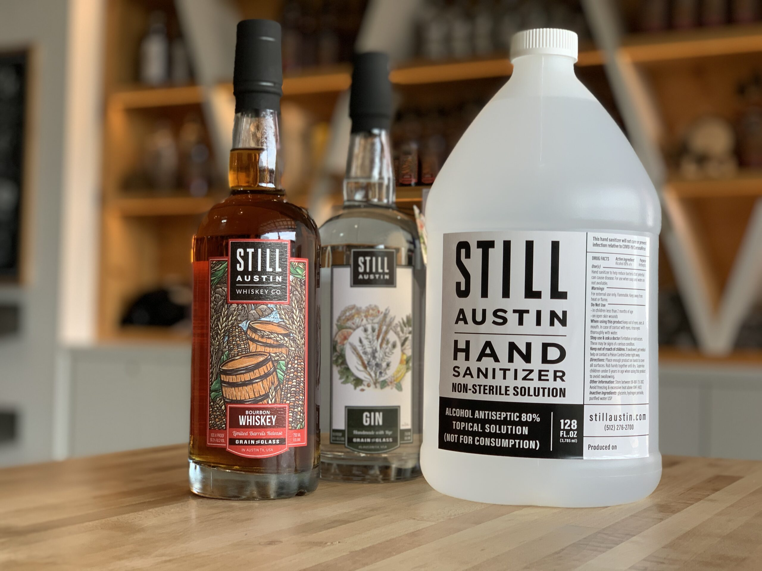 still austin whiskey makes hand sanitizer for coivid-19