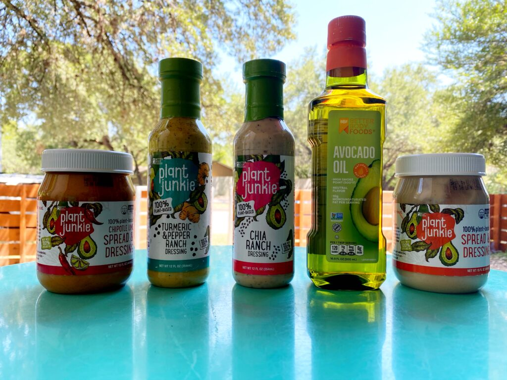 plant junkie plant based spreads and salad dressings