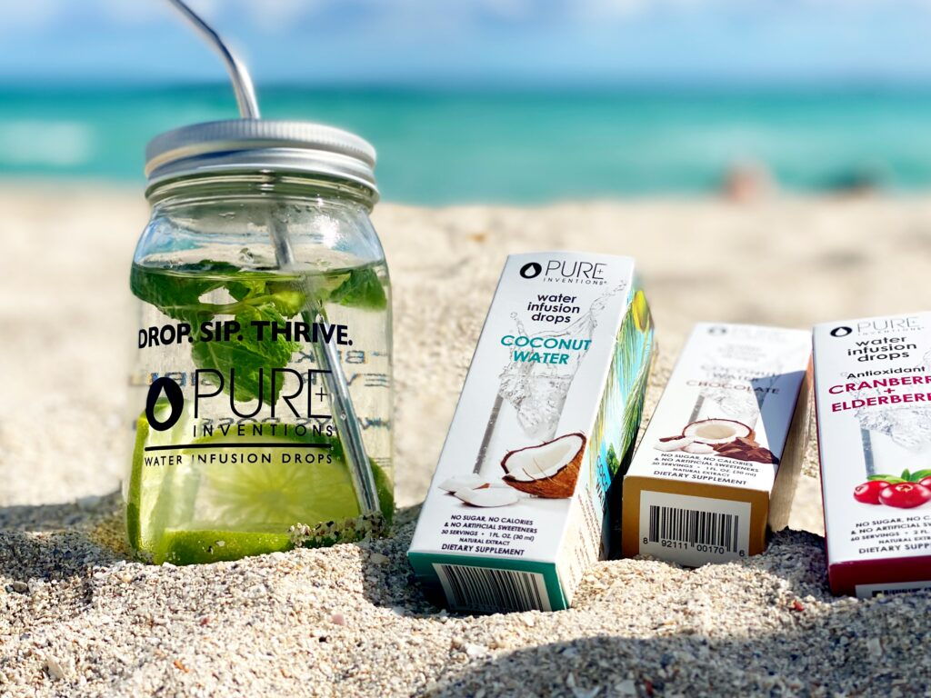 stay hydrated at the beach with these hydration drops that are a beach essential